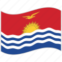 flag, kiribati, kiribati flag, national flag, waving flag, world flag icon