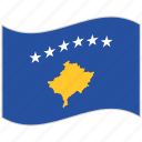 flag, kosovo, kosovo flag, national flag, waving flag, world flag