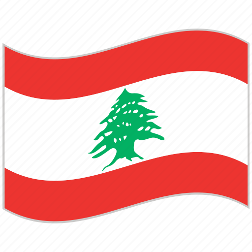 flag, lebanon, lebanon flag, national flag, waving flag, world flag icon
