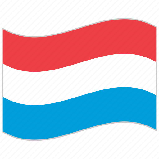 flag, luxembourg, luxembourg flag, national flag, waving flag, world flag icon