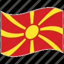 flag, macedonia, macedonia flag, national flag, waving flag, world flag