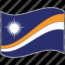 flag, marshall islands, marshall islands flag, national flag, waving flag, world flag