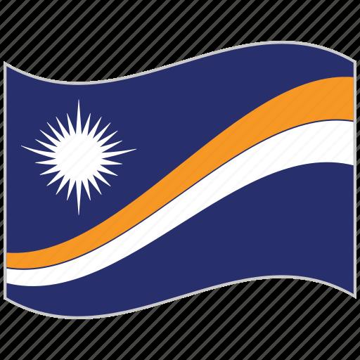 flag, marshall islands, marshall islands flag, national flag, waving flag, world flag icon