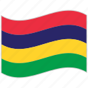 flag, mauritius, mauritius flag, national flag, waving flag, world flag icon