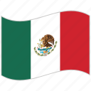 flag, mexico, mexico flag, national flag, waving flag, world flag icon