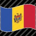 flag, moldova, moldova flag, national flag, waving flag, world flag