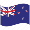 flag, national flag, new zeland, new zeland flag, waving flag, world flag icon