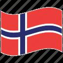 flag, national flag, norway, norway flag, waving flag, world flag icon