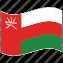 flag, national flag, oman, oman flag, waving flag, world flag icon