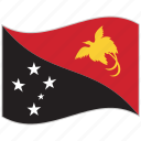 flag, national flag, papua new guinea, papua new guinea flag, waving flag, world flag icon
