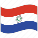 flag, national flag, paraguay, paraguay flag, waving flag, world flag icon