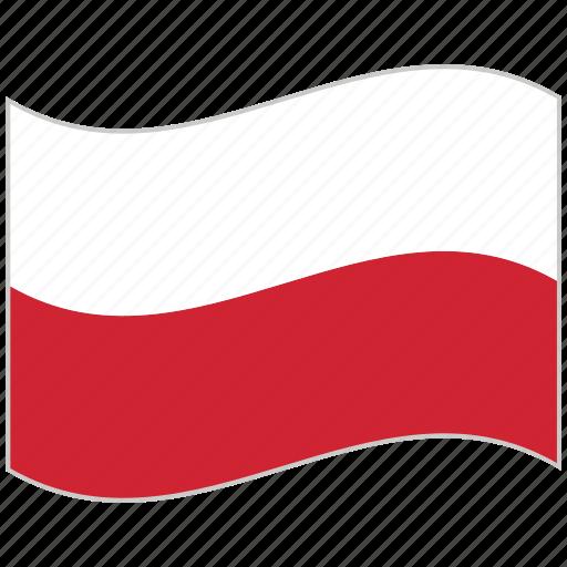 flag, national flag, poland, poland flag, waving flag, world flag icon