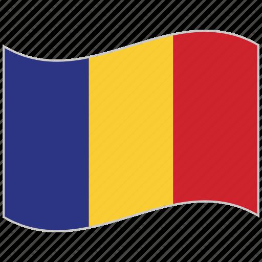 flag, national flag, romania, romania flag, waving flag, world flag icon