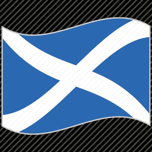 flag, national flag, scotland, scotland flag, waving flag, world flag icon
