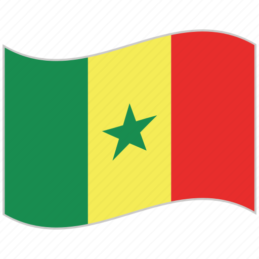 flag, national flag, senegal, senegal flag, waving flag, world flag icon