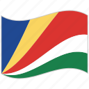 flag, national flag, seychelles, seychelles flag, waving flag, world flag