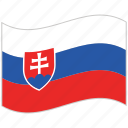 flag, national flag, slovakia, slovakia flag, waving flag, world flag