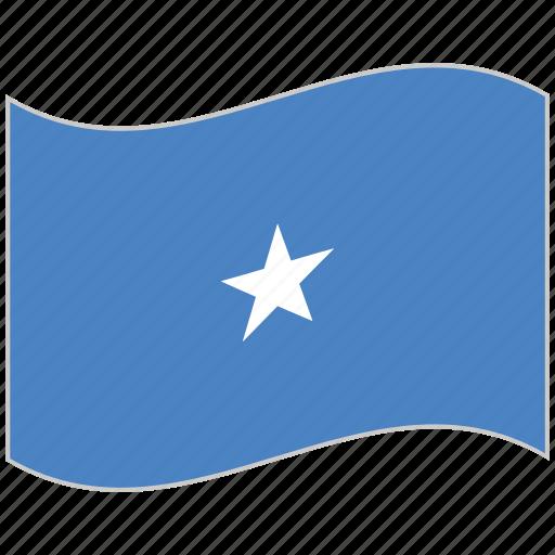 flag, national flag, somalia, somalia flag, waving flag, world flag icon