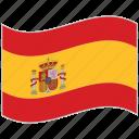 flag, national flag, spain, spain flag, waving flag, world flag icon