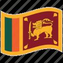 flag, national flag, sri lanka, sri lanka flag, waving flag, world flag icon