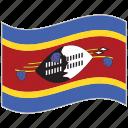 flag, national flag, swaziland, swaziland flag, waving flag, world flag icon
