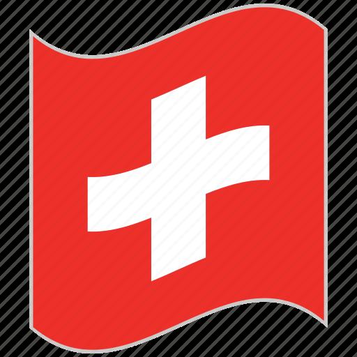 flag, national flag, switzerland, switzerland flag, waving flag, world flag icon