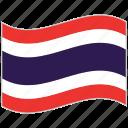 flag, national flag, thailand, thailand flag, waving flag, world flag