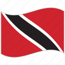 flag, national flag, trinidad and tobago, trinidad and tobago flag, waving flag, world flag icon