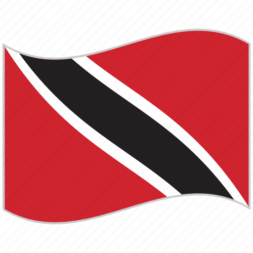 flag, national flag, trinidad and tobago, trinidad and tobago flag, waving flag, world flag icon