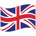 flag, national flag, united kingdom, united kingdom flag, waving flag, world flag icon