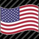 flag, national flag, usa, usa flag, waving flag, world flag icon