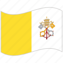 flag, national flag, vatican city, vatican city flag, waving flag, world flag