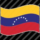 flag, national flag, venezuela, venezuela flag, waving flag, world flag