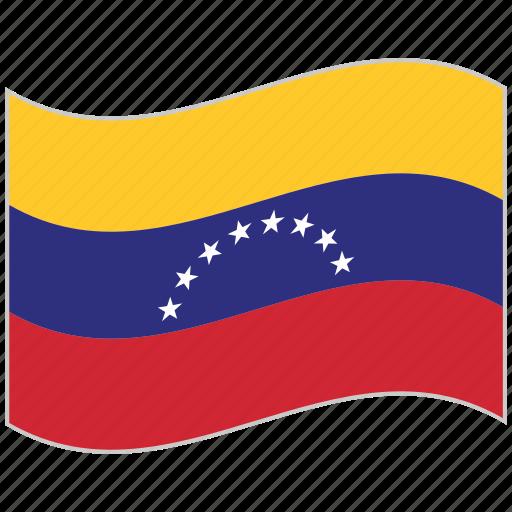 flag, national flag, venezuela, venezuela flag, waving flag, world flag icon