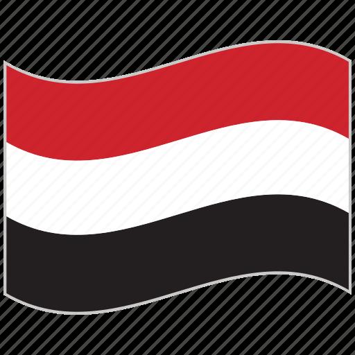 flag, national flag, waving flag, world flag, yemen, yemen flag icon
