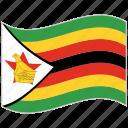 flag, national flag, waving flag, world flag, zimbabwe, zimbabwe flag icon