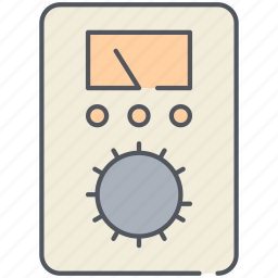 ampere, dashboard, device, electricity, gauge, measurement, meter icon