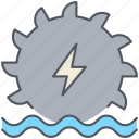 dam, electricity, energy, hydropower, power, renewable, waterfall icon