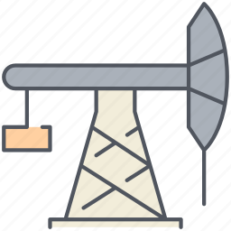 diesel, exacation, extraction, fuel, oil, pump, pumpjack icon