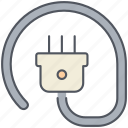 cord, electric, electricity, energy, power, supply icon