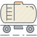 cargo, petrol, shipping, tank, train, transport, vehicle icon