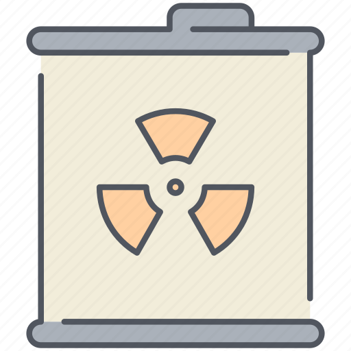 barrel, gas, nuclear, poison, radiation, toxic, waste icon