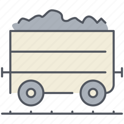 cargo, coal, delivery, train, transportation, vehicle, wagon icon