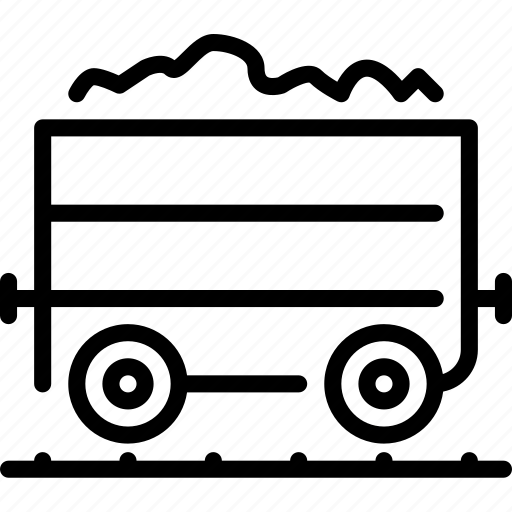 Coal, transportation, wagon icon - Download on Iconfinder