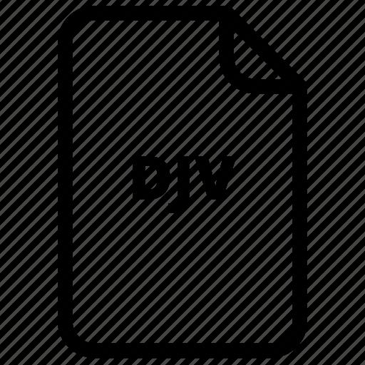 djv, file, files, type icon