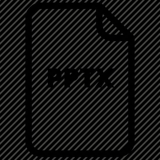 file, files, pptx, type icon
