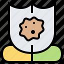 antibiotic, disease, immune, resistant, shield icon