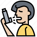 asthma, inhaler, medicine, spray, treatment icon