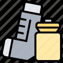 asthma, bronchodilators, inhaler, medicine, respiratory icon