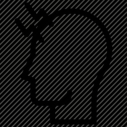 head, headache, pain icon icon